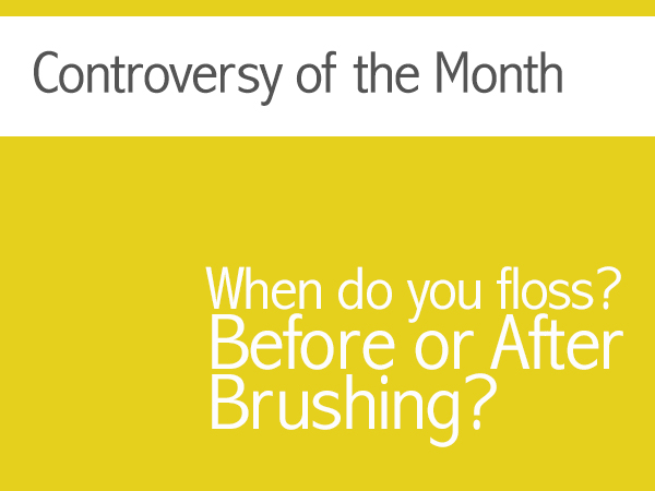 brush before flossing