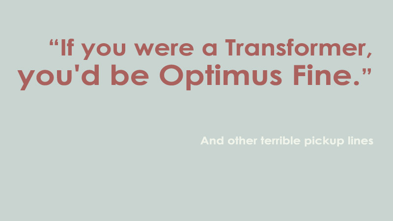 transformer pickup lines
