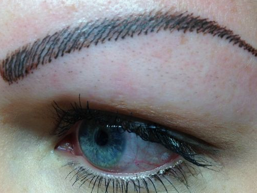 Microblading what the heck healthy magazine for Fake tattoo eyebrows