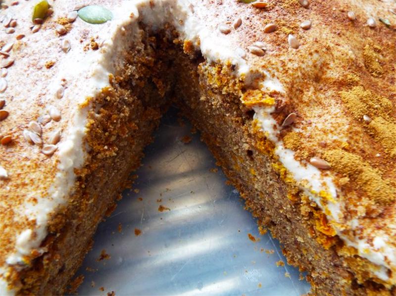 no sugar carrot cake